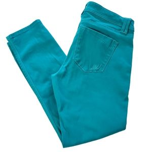 Express jeans teal color skinny ankle jeans size 2